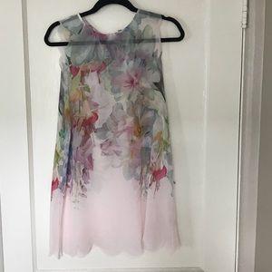Ted Baker London Chiffon Cover Up Top/ Mini Dress